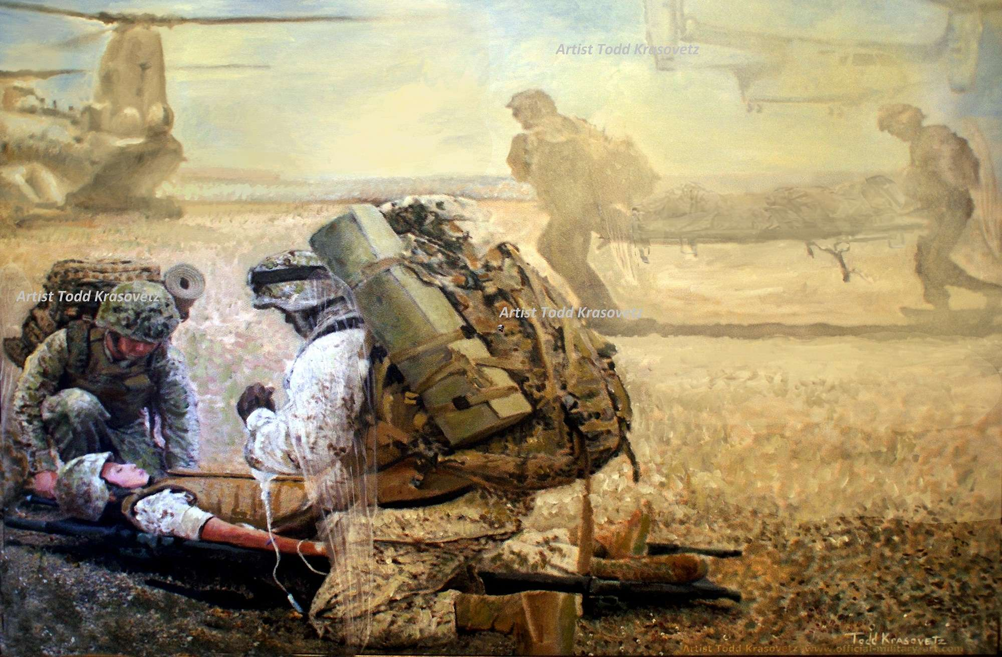 Military Art by Artist Todd Krasovetz Limited Edition Prints Titled Hidden Wings