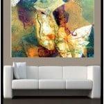 Contemporary Art 2 n above Sofa by Artist Todd Krasovetz