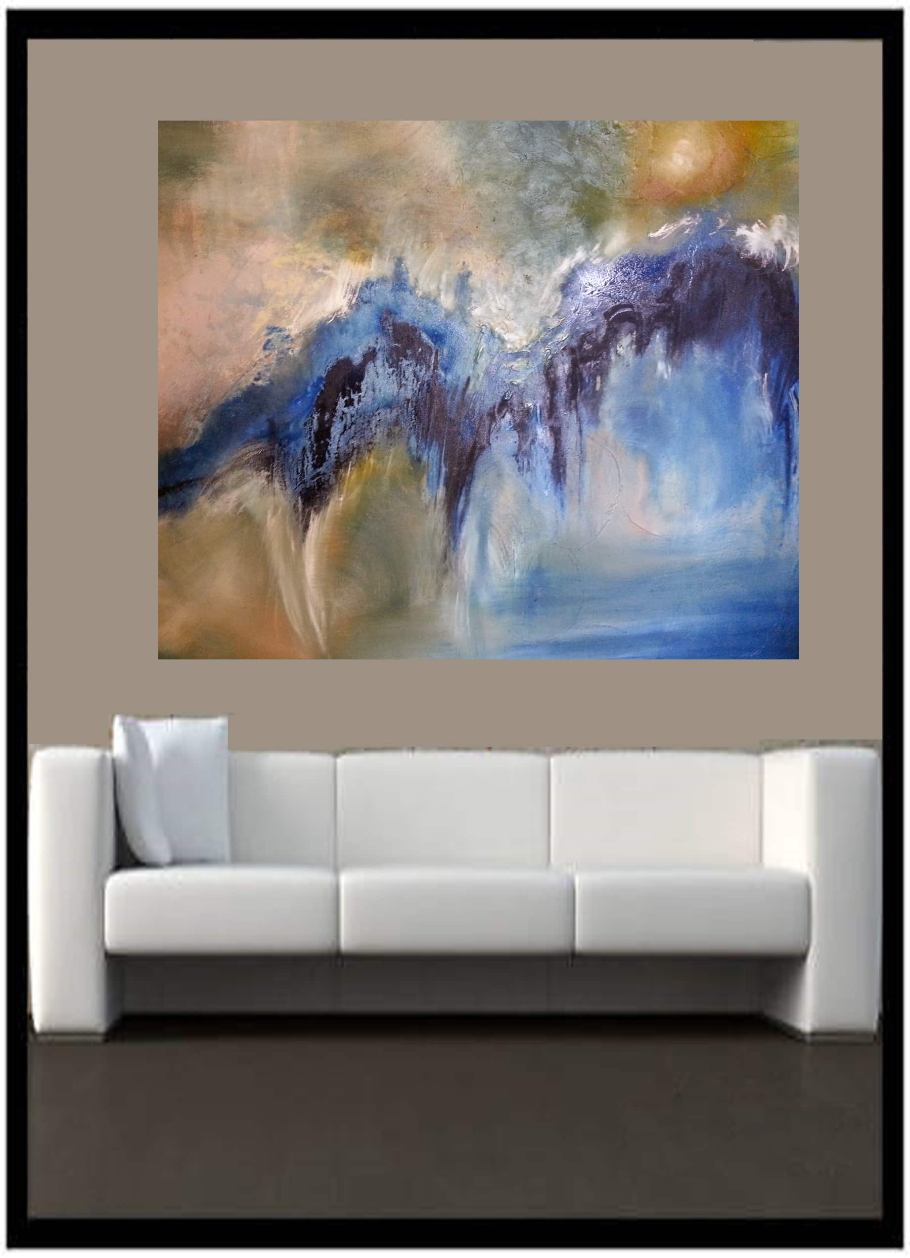 Contemporary Art Above Sofa Oil on Canvas by Artist Todd Krasovetz