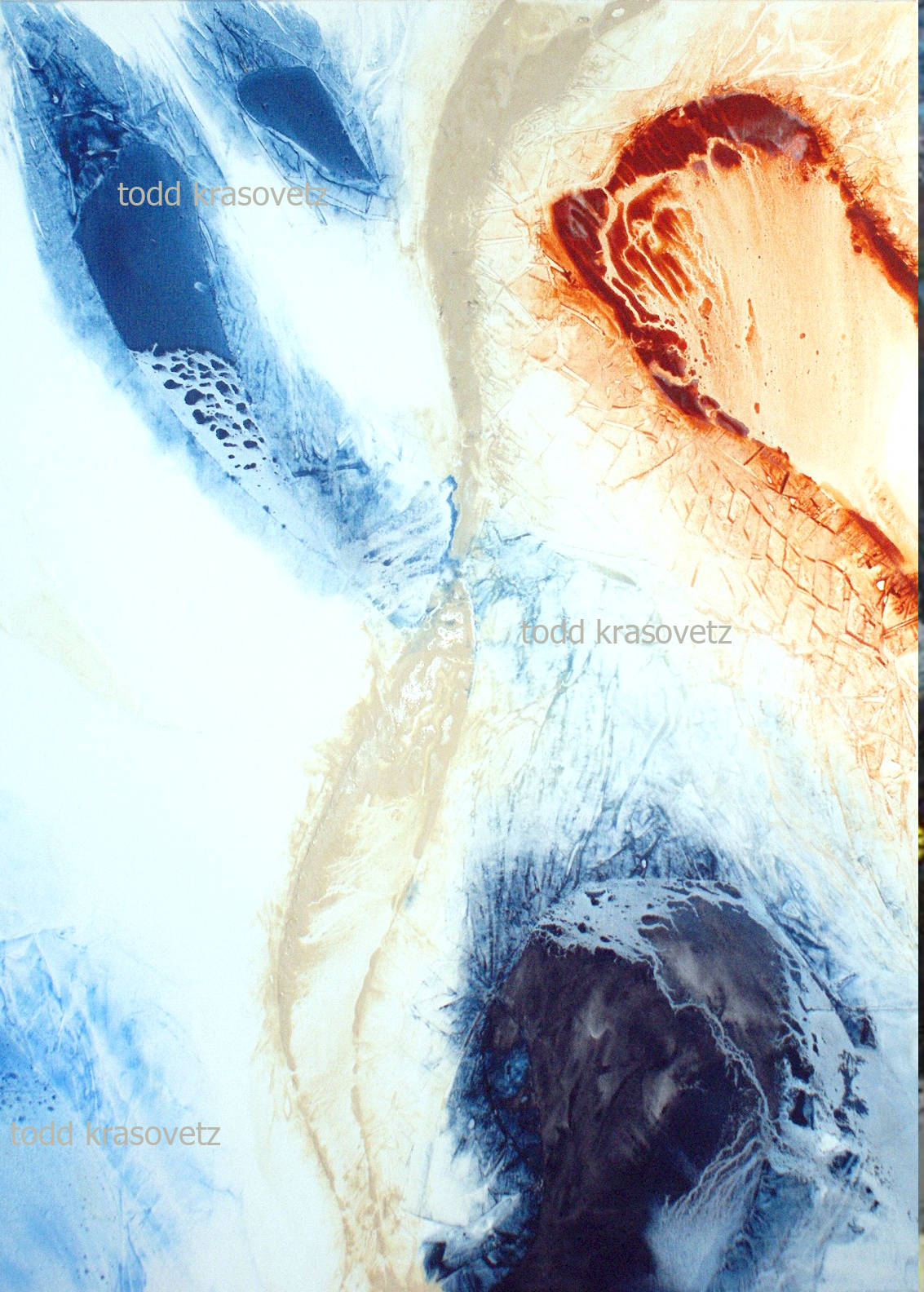 Contemporary Art Oil Painting titled Breaking Through by Artist Todd Krasovetz watermarked