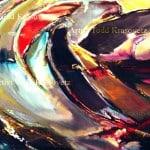 Contemporary Art Oil on Canvas Titled Dark Wave by Artist Todd Krasovetz