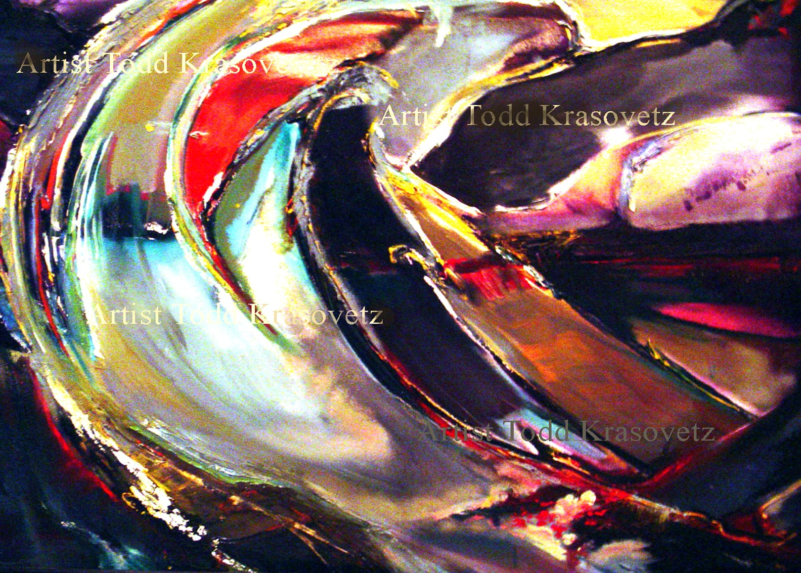 Contemporary Art Oil on Canvas Titled Dark Wave by Artist Todd Krasovetz