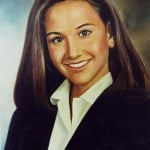 Oil Portrait from Photo Los Angeles Oil Portrait Artist Todd Krasovetz School Girl in Uniform