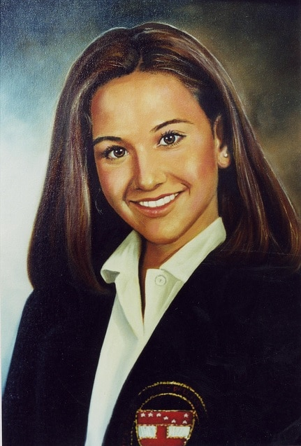 Oil Portrait from Photo Los Angeles Oil Portrait Artist Todd Krasovetz School Girl in Uniform