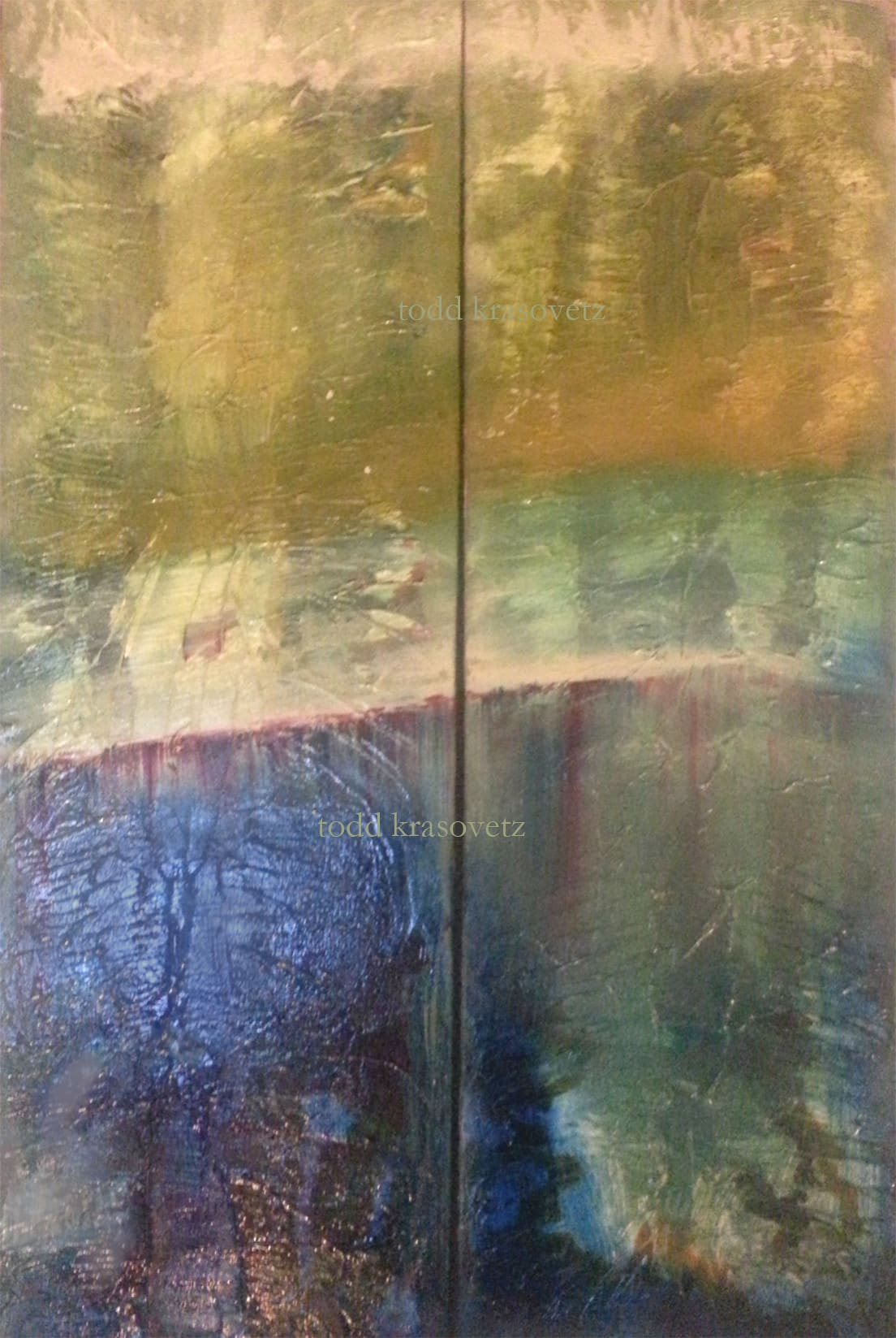 Featured Item Contemporary Abstract Art Diptych by Artist Todd Krasovetz titled Euphoric Dream Oil On Canvas