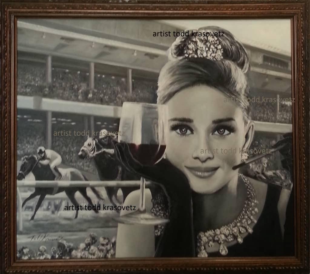 Audrey Hepburn painting by Todd Krasovetz Original Oil