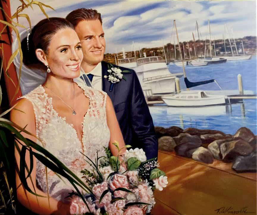 San Diego Wedding Oil Portrait